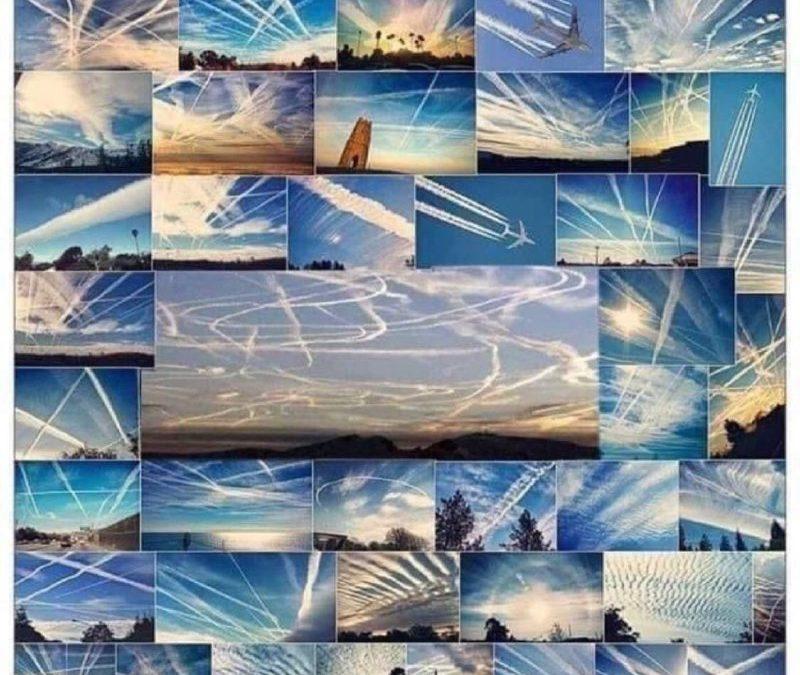 No son estelas de condensación. Son fumigaciones con estelas químicas. Y los gobiernos son cómplices.