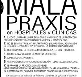 Mala praxis planificada en hospitales y clínicas